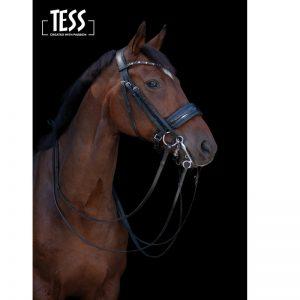 TESS Double Bridle WIDE Black/Black