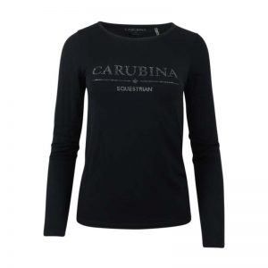echnisch-Shirt-Lange-mouwen-Caberlin-Black-Carubina